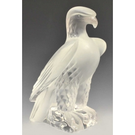 VINTAGE LALIQUE FRANCE ART CRYSTAL LIBERTY EAGLE
