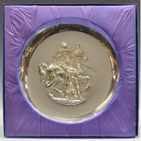 AFTER DALI, STERLING SILVER COLLECTORS PLATE