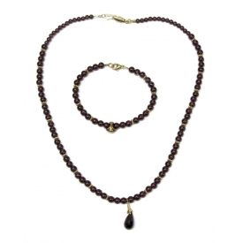 (2) ESTATE RUBY & 14KT GOLD BEADED JEWELRY GROUP