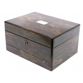 LATE VICTORIAN ENGLISH ROSEWOOD WORK BOX