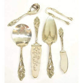 (6) REED & BARTON LOVE DISARMED STERLING FLATWARE