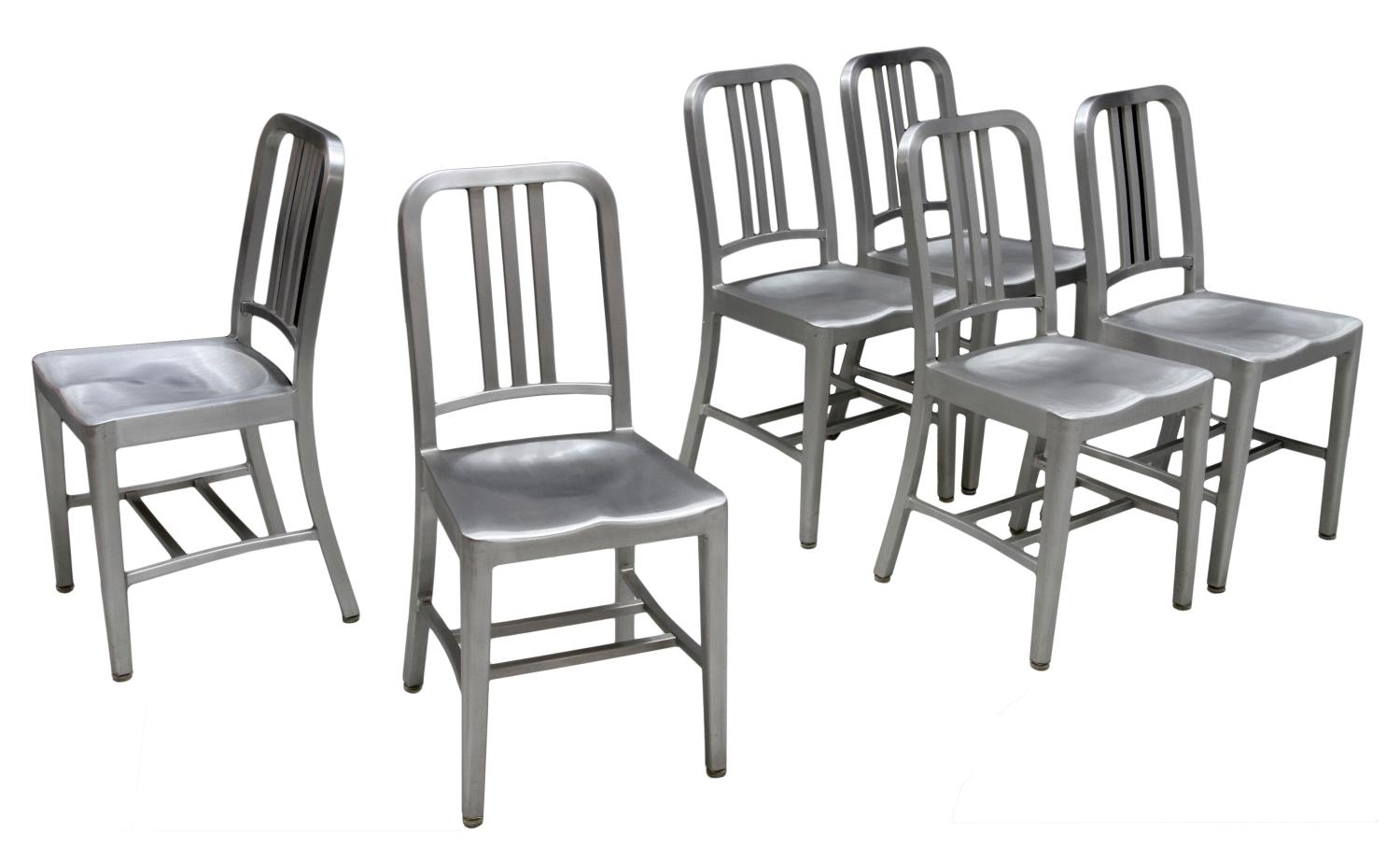6 EMECO ALUMINUM NAVY CHAIRS MODEL 1006 Mid Summer Spectacular Estates A