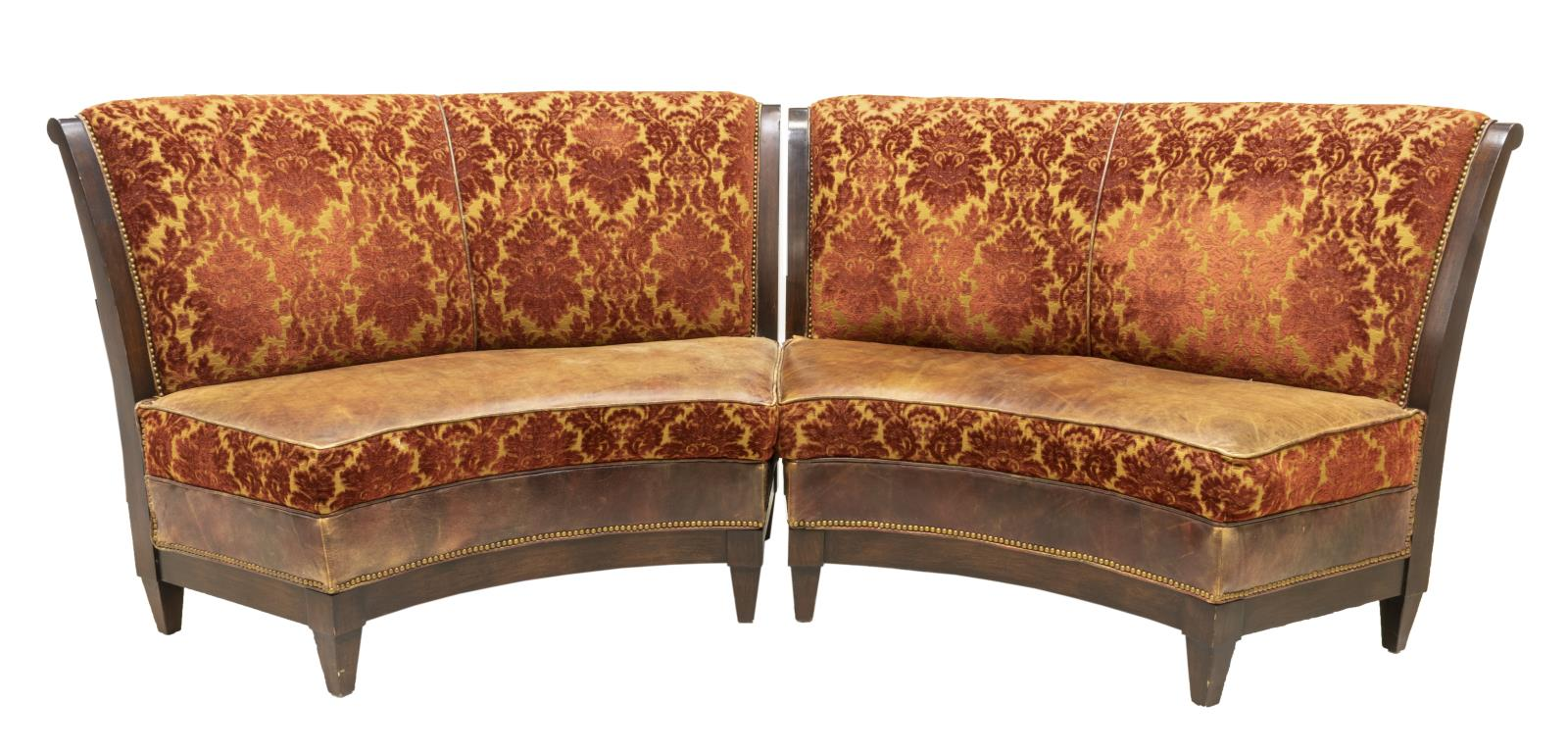 (2) UPHOLSTERED CURVED BANQUETTE BENCHES - November 3 Day ...