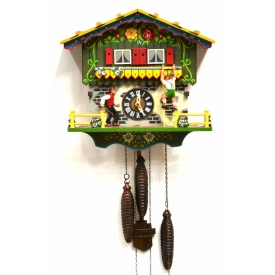 BLACK FOREST FARMERS DAUGHTER CUCKOO MUSIC CLOCK