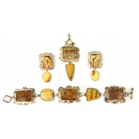 (4) LESLEY AINE MCKEOWN STERLING STONE JEWELRY