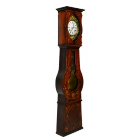 COUNTRY FRENCH PAINTED CASE GRANDFATHER CLOCK