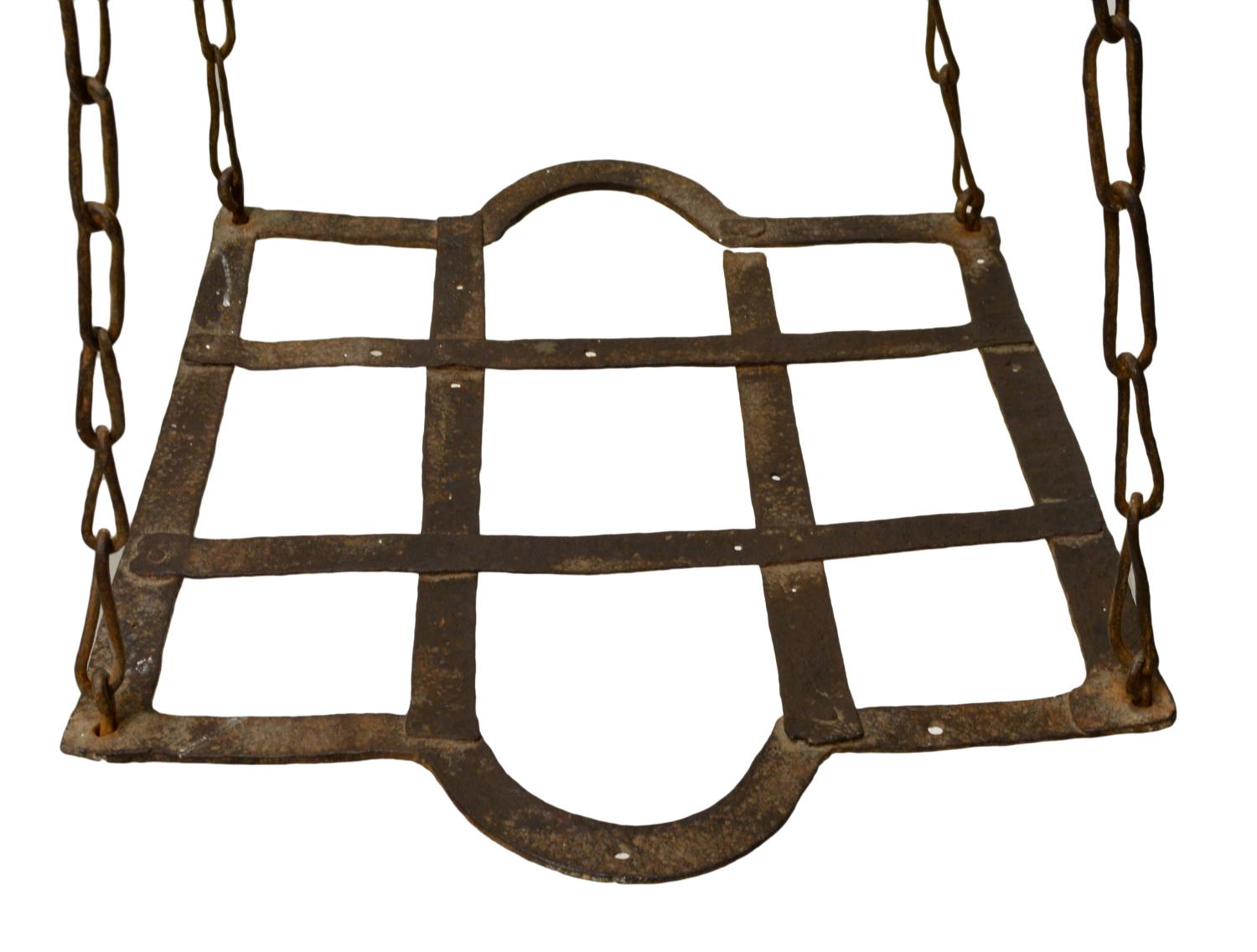 RUSTIC CONTINENTAL IRON HANGING POT RACK - Magnificent ...