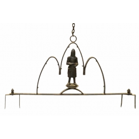 CONTINENTAL FIGURAL HANGING IRON SIGN FRAME