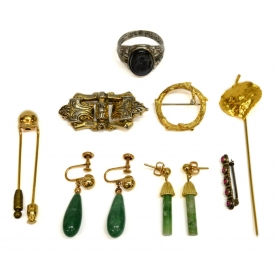 COLLECTION GOLD, STERLING & STONE JEWELRY