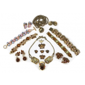 COLLECTION COSTUME JEWELRY, HASKELL STYLE PIECES