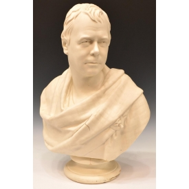 COPELAND BUST, SIR WALTER SCOTT, AFTER CHANTREY