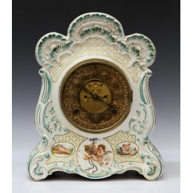 ANSONIA COMPANY PORCELAIN CASE MANTLE CLOCK