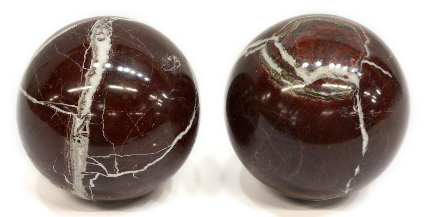Large decorative marble orbs spheres magnificent