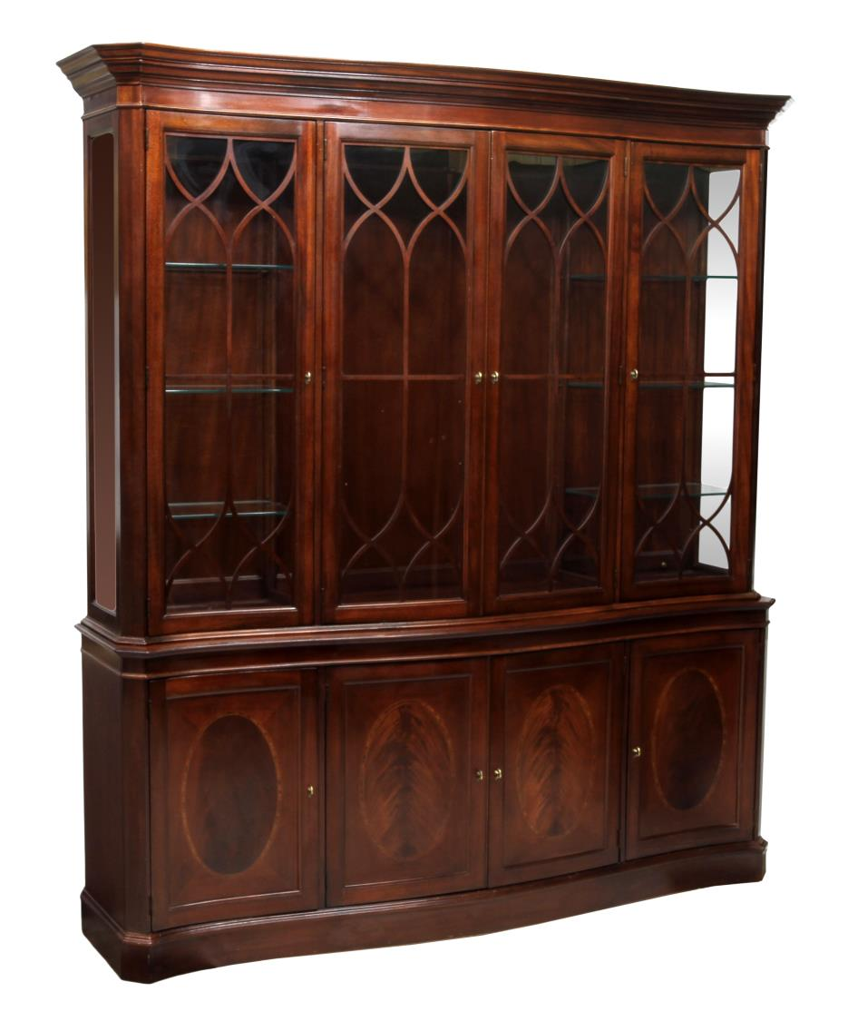 China Kitchen Austin: LARGE MAHOGANY CHINA CABINET, LEXINGTON FURNITURE
