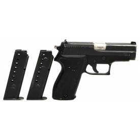 SIG SAUER P6 SEMI-AUTOMATIC POLICE PISTOL, 9MM