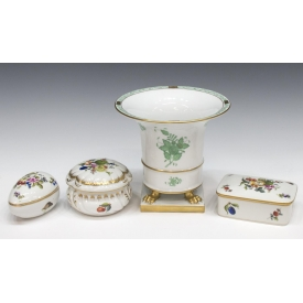 (4) HEREND PORCELAIN CABINET & TABLE ARTICLES