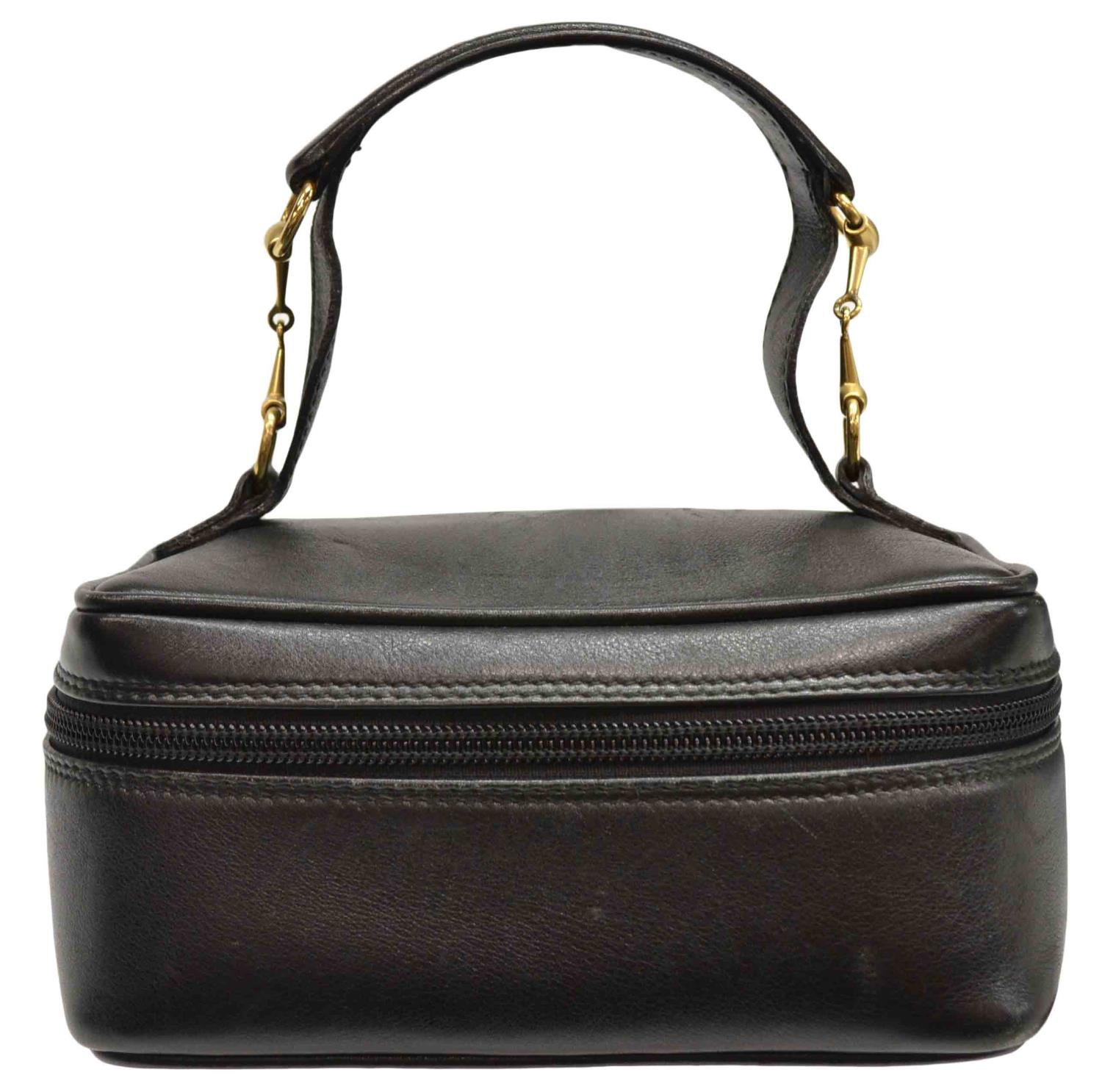 a152aa061fcee7 ... 419775 Black Leather Micro GG Guccissima Large Toiletry Dopp GUCCI  BLACK LEATHER & SUEDE COSMETIC BAG - Italian Design, Couture, & Estates -