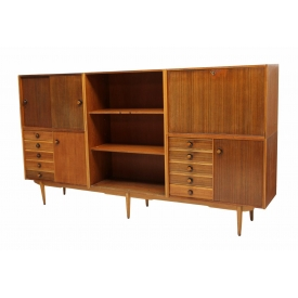 ITALIAN MID-CENTURY THREE SECTION BOOKCASE