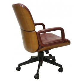 MID-CENTURY PARISI FOR MIM LEATHER OFFICE CHAIR