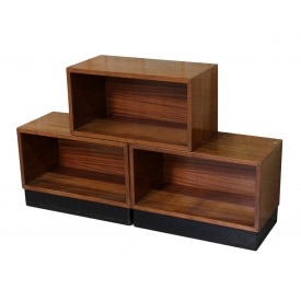(3) ITALIAN MID-CENTURY STACKABLE WOOD SHELVES
