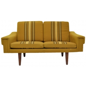 DANISH MID-CENTURY MODERN UPHOLSTERED LOVESEAT
