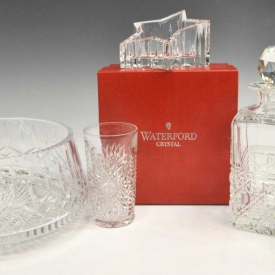 (5) ASSORTED CUT CRYSTAL & GLASS ITEMS