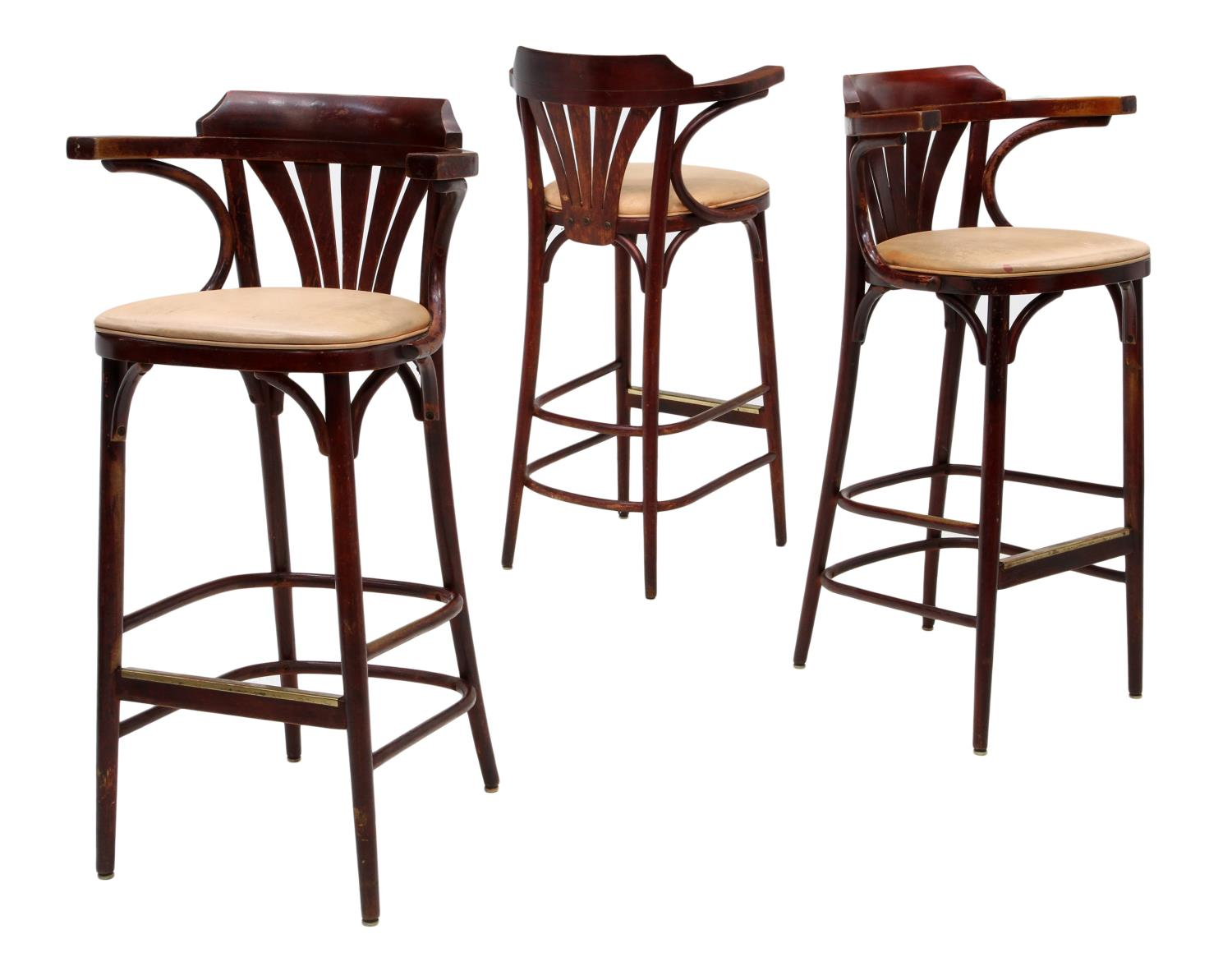 3 Vintage Shelby Williams Bar Stools Spectacular