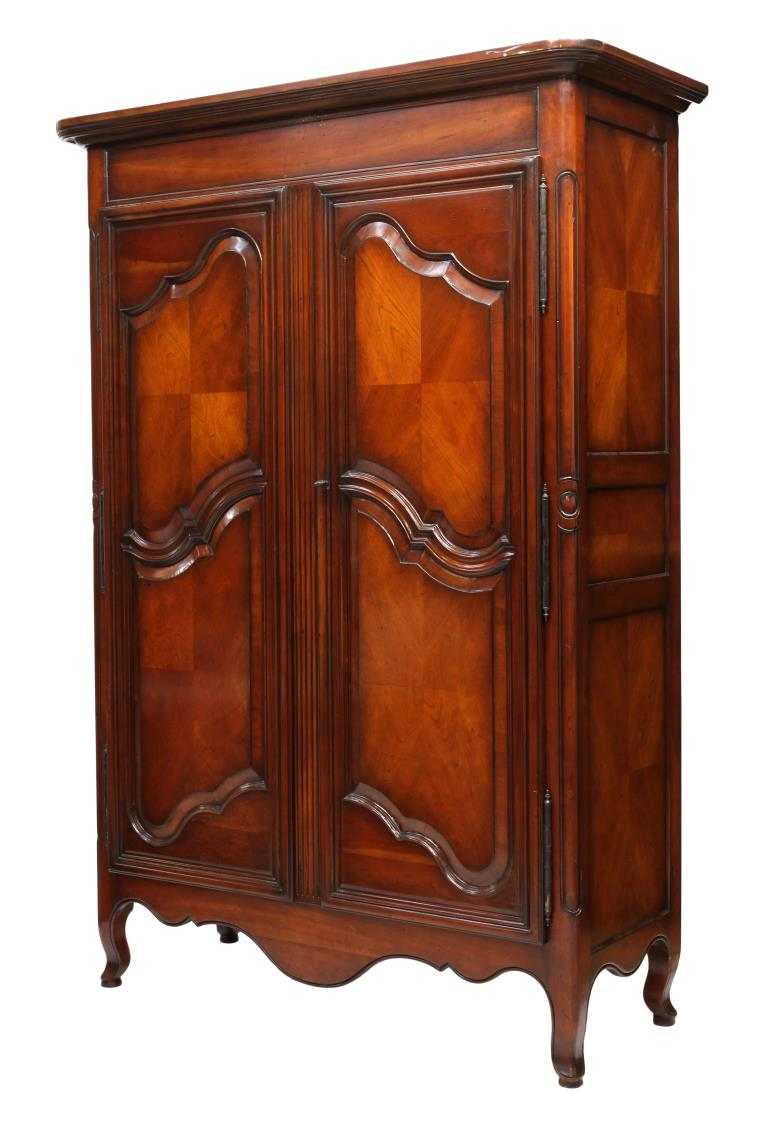 louis xv style two door armoire spectacular holiday 2 day estates auction austin auction gallery. Black Bedroom Furniture Sets. Home Design Ideas
