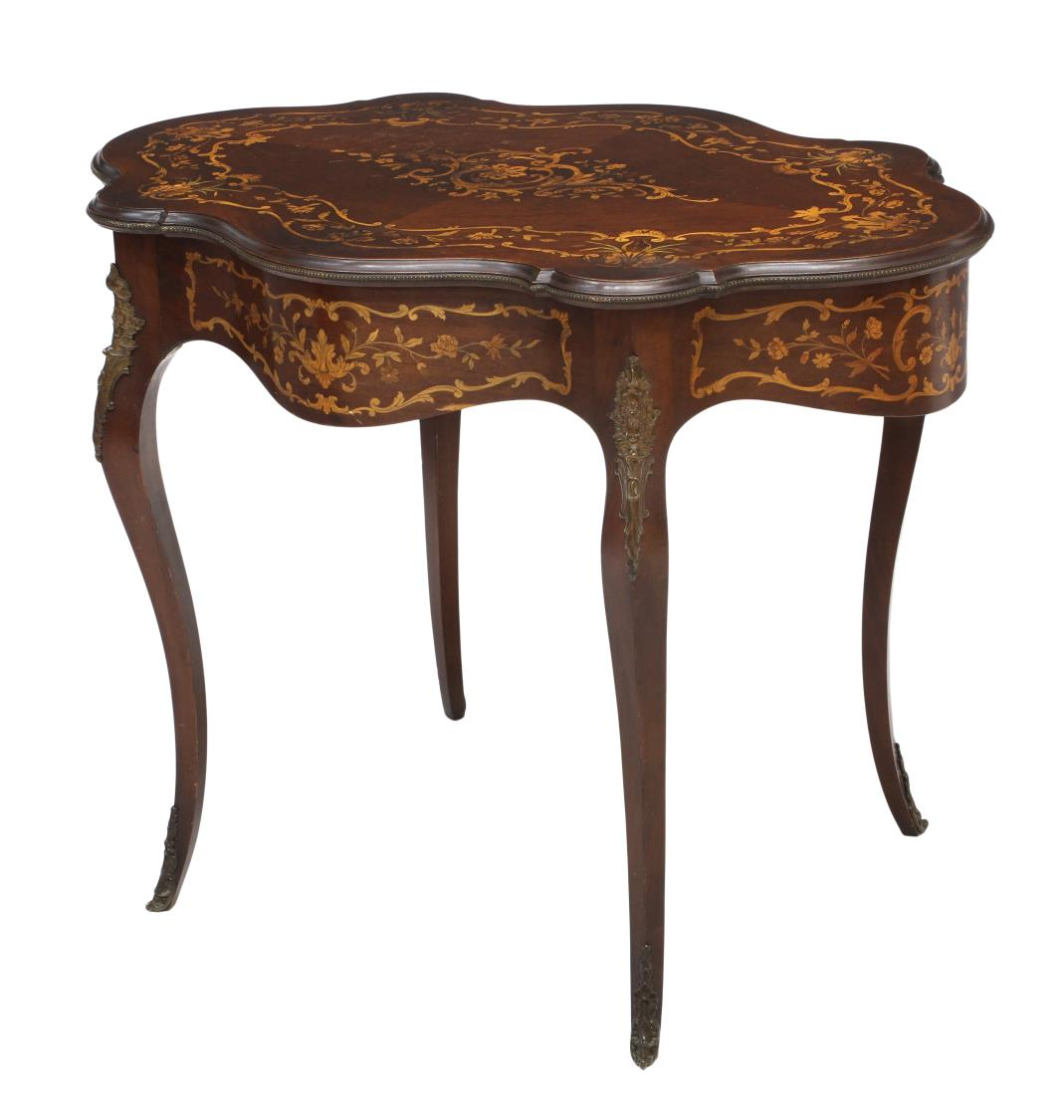 LOUIS XV STYLE MARQUETRY CENTER TABLE - Spectacular Holiday 2 Day ...