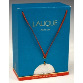LALIQUE ART CRYSTAL PERFUME BOTTLE BOXED, PENDANT