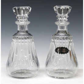 (2) FINE & HEAVY BACCARAT CUT CRYSTAL DECANTERS