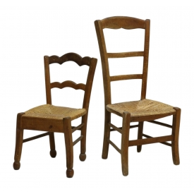 2 country french rush seat chairs january antiques