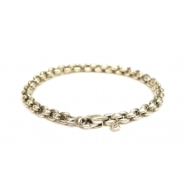 GENTS DAVID YURMAN ROUND LINK STERLING BRACELET