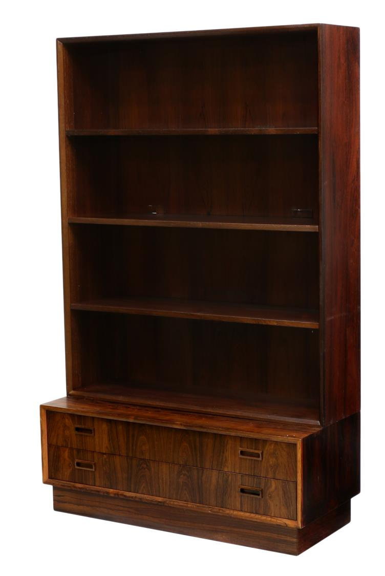 danish mid century modern rosewood bookcase important two day auction day one austin. Black Bedroom Furniture Sets. Home Design Ideas