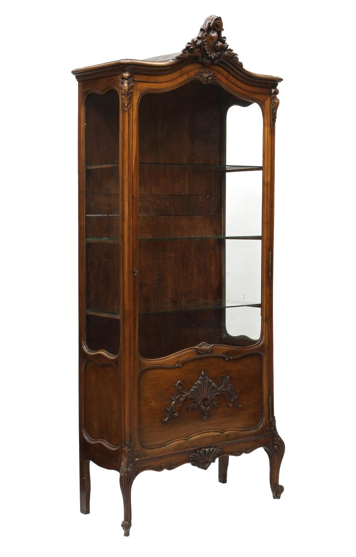 french louis xv style vitrine important two day auction day two austin auction gallery. Black Bedroom Furniture Sets. Home Design Ideas