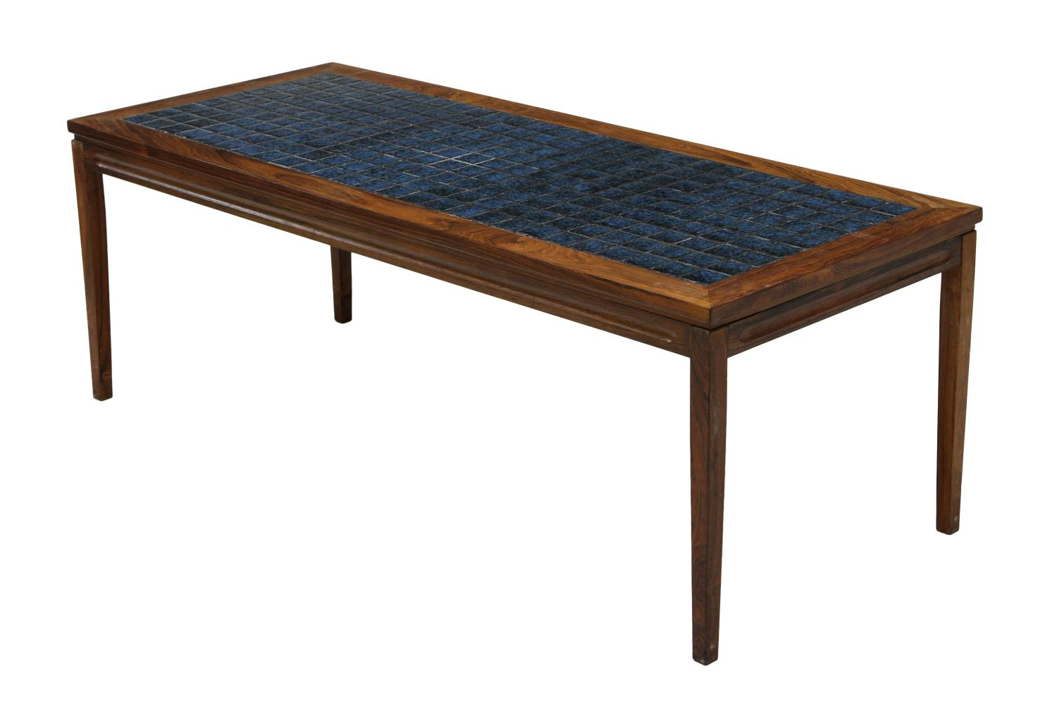 Danish Mid Century Modern Rosewood Tile Top Table March Estates Auction Day One Austin