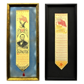 ABRAHAM LINCOLN & STAR SPANGLED BANNER RIBBONS