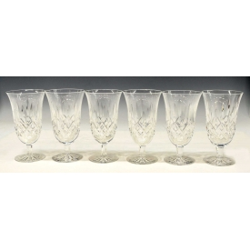 (6) WATERFORD CUT CRYSTAL LISMORE ICED TEA GLASSES
