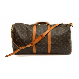 LOUIS VUITTON KEEPALL 55 MONGRAM CANVAS DUFFLE BAG