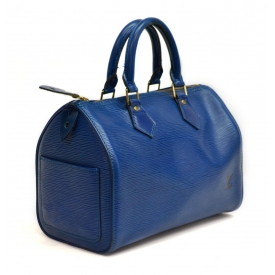LOUIS VUITTON BLUE EPI LEATHER SPEEDY HANDBAG