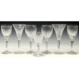 (7) WATERFORD CRYSTAL TOASTING GOBLETS
