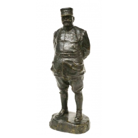 GENERAL JOSEPH JOFFRE FRENCH FIGURAL BRONZE