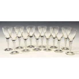 (12) STUART ARIEL AIR TWIST STEM COLORLESS GOBLETS
