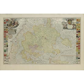 FRENCH MAP, DUCHY OF WURTEMBERG