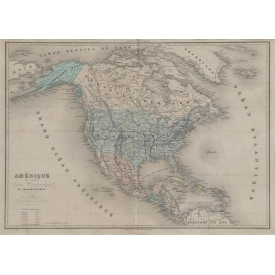 "FRENCH MAP ""AMERIQUE DU NORD"""