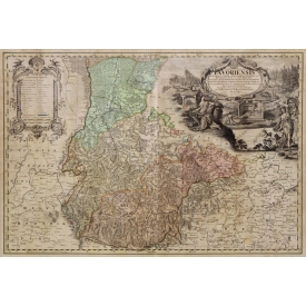 EARLY MAP OF GERMANY, SELISIA