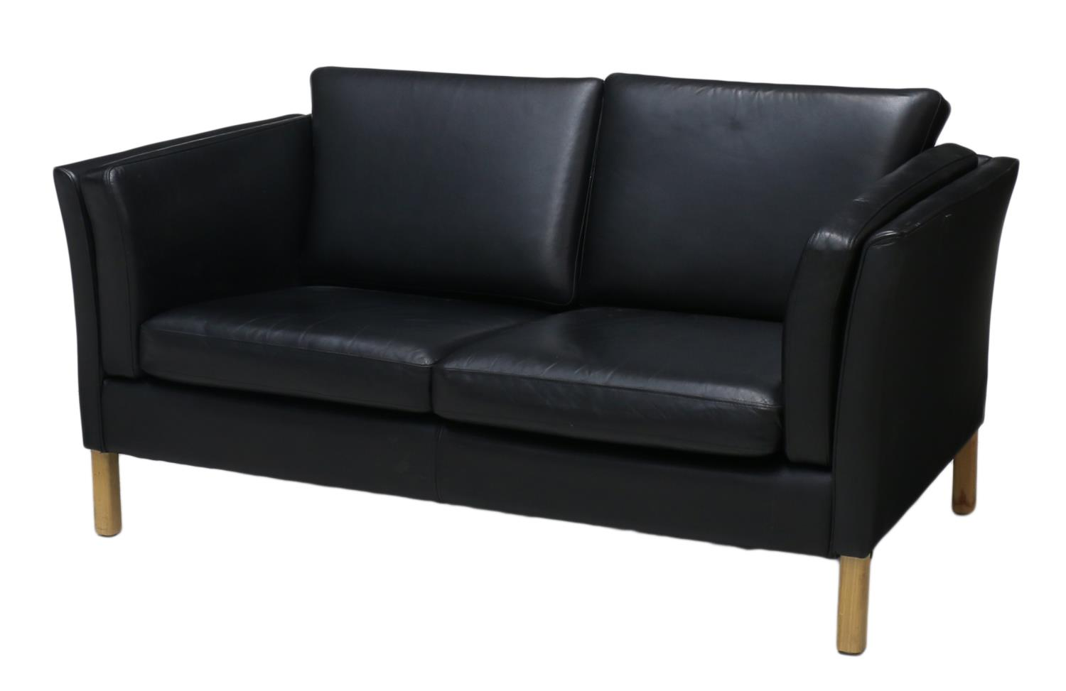 danish mid century modern leather sofa spring two day