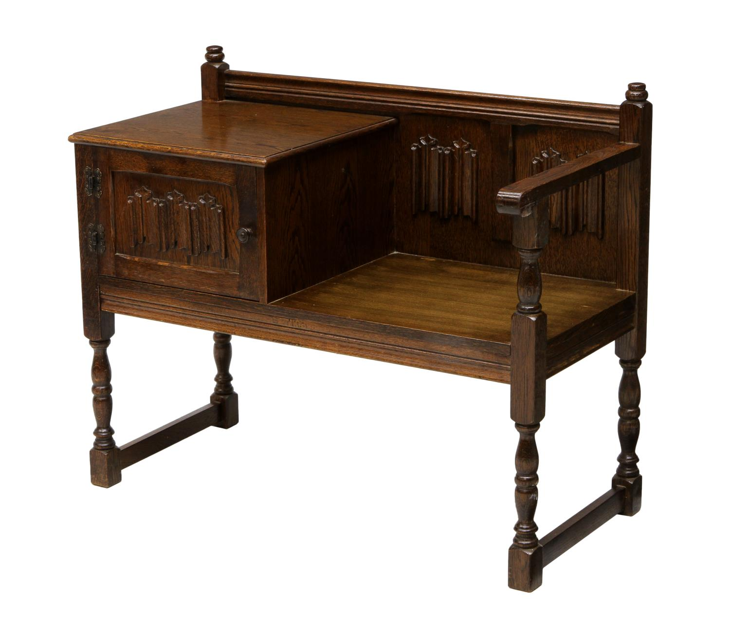 Oak Telephone Or Conversation Bench Spring Two Day Estates Auction Day One Austin Auction