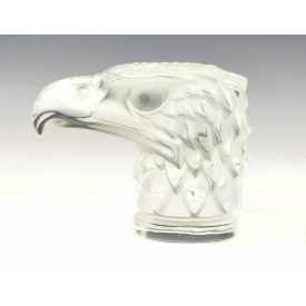LALIQUE HOOD ORNAMENT EAGLE HEAD SCULPTURE