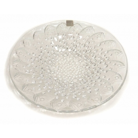 FRENCH LALIQUE ROSCOFF CRYSTAL CENTER BOWL